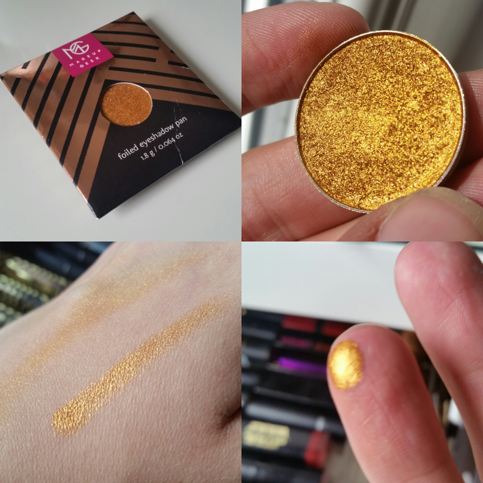 Assez Makeup Geek Foiled Eyeshadow in Untamed / Product Review & Swatch FG29